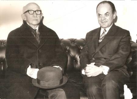 Ο δικτάτορας Γ. Παπαδόπουλος με τον Ισμέτ Ινονού