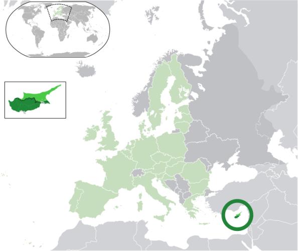 Κύπρος στον χάρτη