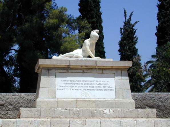 Ο τάφος του Μάρκου Μπότσαρη