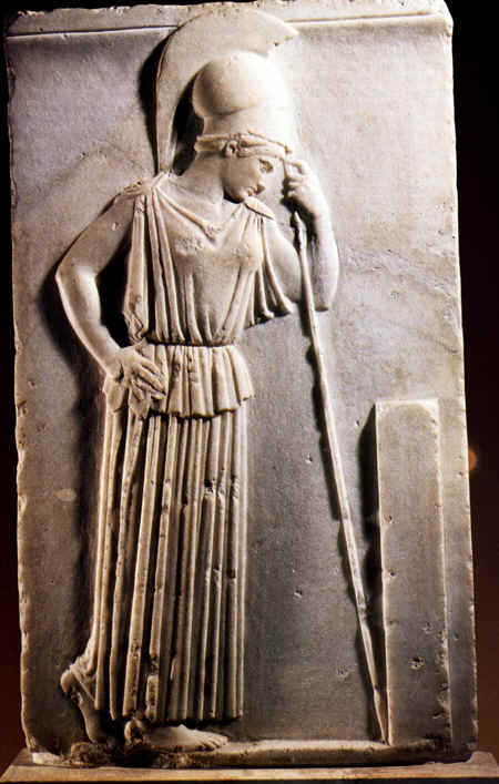 Ανάγλυφο της Σκεπτόμενης Αθηνάς γύρω στο 460π.Χ.