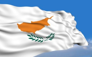 Κυπριακή σημαία ανεμίζουσα